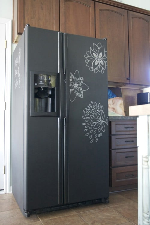 Make Your Fridge a Chalkboard - 20 of the Most Adorable DIY Kitchen Projects You've Ever Seen