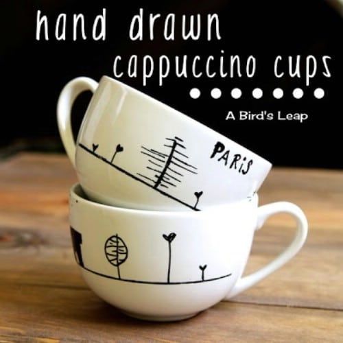 Paint Your Own Coffee Mugs - 20 of the Most Adorable DIY Kitchen Projects You've Ever Seen