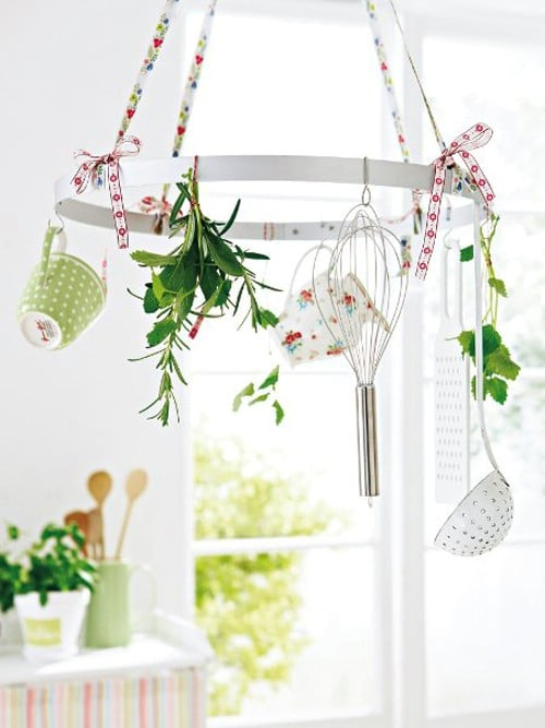 Make a Utensil or Herb Hanger - 20 of the Most Adorable DIY Kitchen Projects You've Ever Seen