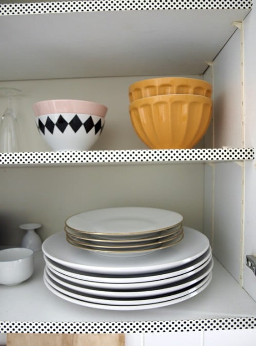 Use Washi Tape on Cabinets - 20 of the Most Adorable DIY Kitchen Projects You've Ever Seen