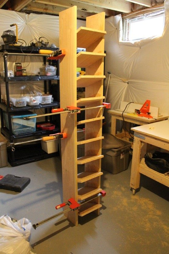 Build A Garage Shoe Storage System