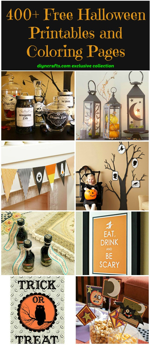 400 Free Halloween Printables And Coloring Pages Diy Crafts