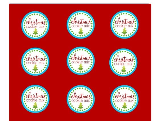 Cookies in a Jar Printables - Over 50 Creative Christmas Printables Collection