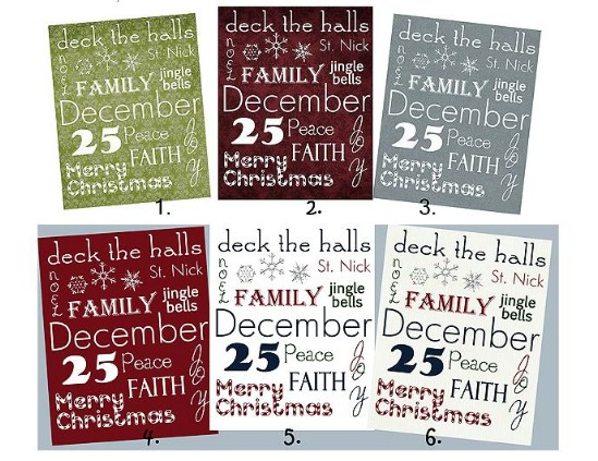 Christmas Subway Art - Over 50 Creative Christmas Printables Collection