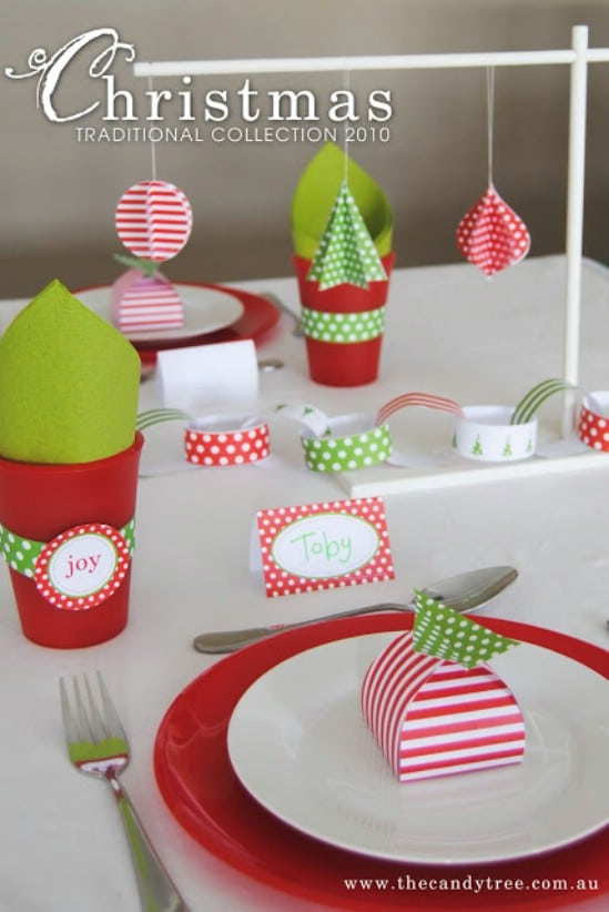 Peppermint Party Supplies - Over 50 Creative Christmas Printables Collection
