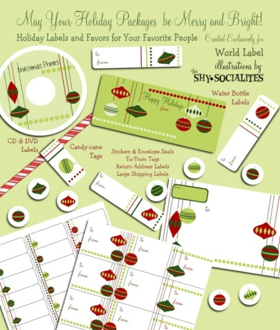 Shipping and Gift Labels - Over 50 Creative Christmas Printables Collection