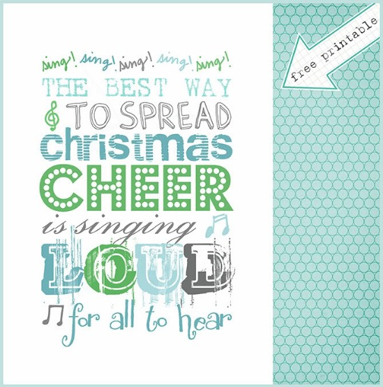 Singing Printable - Over 50 Creative Christmas Printables Collection