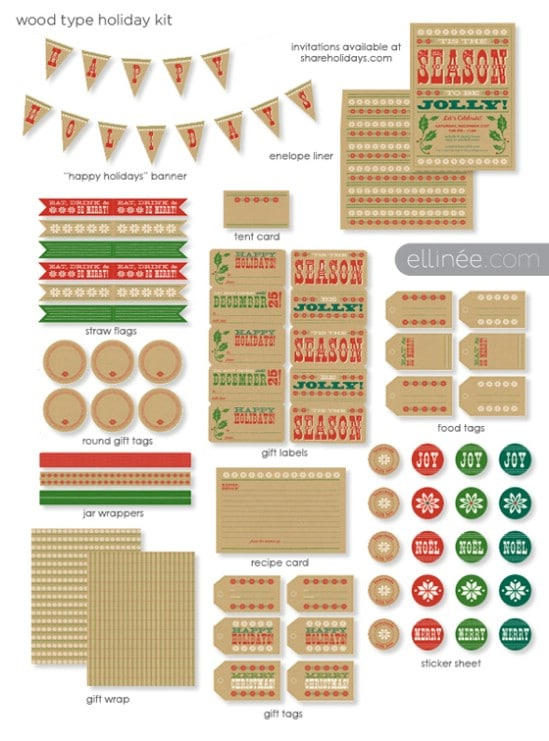 image relating to Happy Holidays Banner Printable titled 50+ Resourceful Xmas Printables Selection - Do-it-yourself Crafts