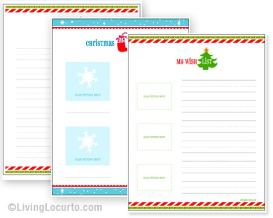 Kids Wish Lists - Over 50 Creative Christmas Printables Collection