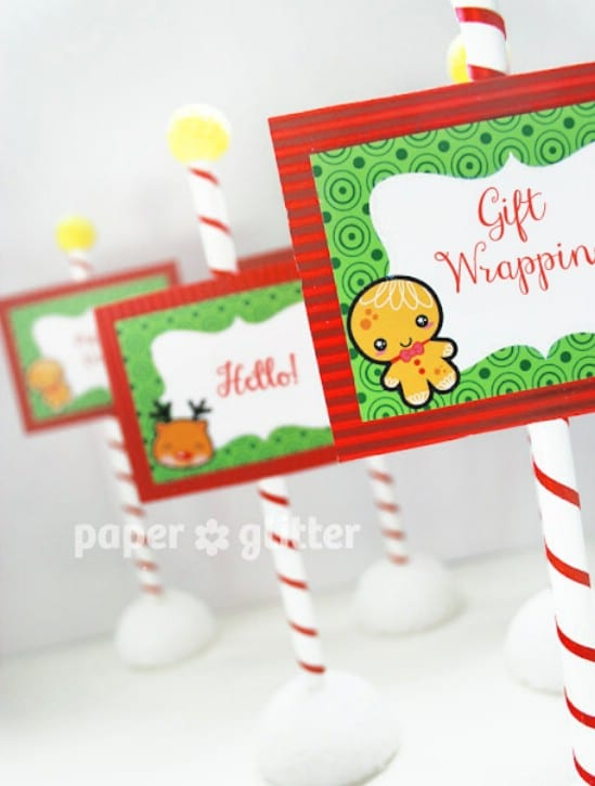 Edible Gingerbread Man Labels - Over 50 Creative Christmas Printables Collection