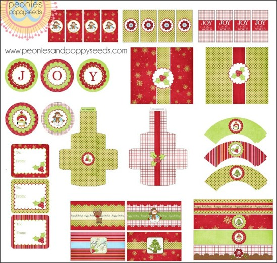 Santa Printables - Over 50 Creative Christmas Printables Collection