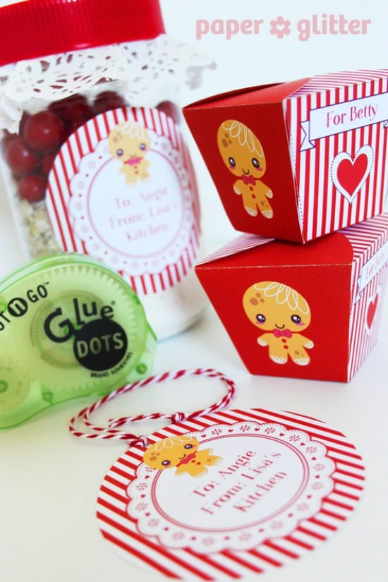 Christmas Goody Boxes - Over 50 Creative Christmas Printables Collection