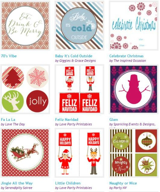 Christmas Tags and More - Over 50 Creative Christmas Printables Collection