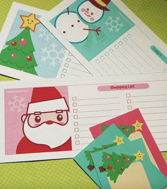 Christmas Tags and Shopping List - Over 50 Creative Christmas Printables Collection