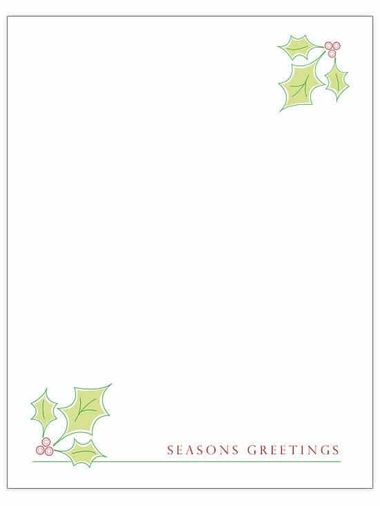Christmas Stationary - Over 50 Creative Christmas Printables Collection
