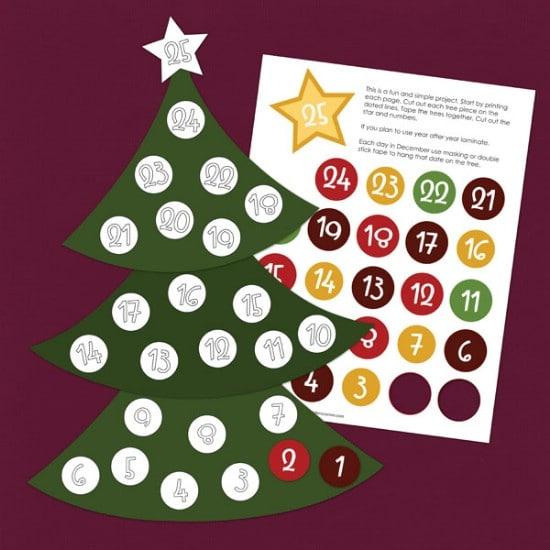 Christmas Countdown Calendar - Over 50 Creative Christmas Printables Collection