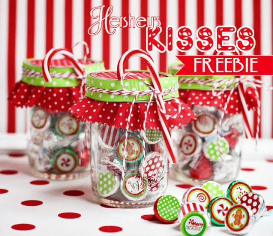 Hershey's Kiss Printables - Over 50 Creative Christmas Printables Collection