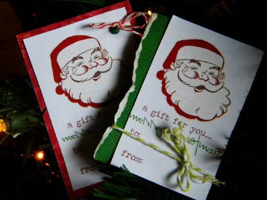 Santa Gift Tags - Over 50 Creative Christmas Printables Collection
