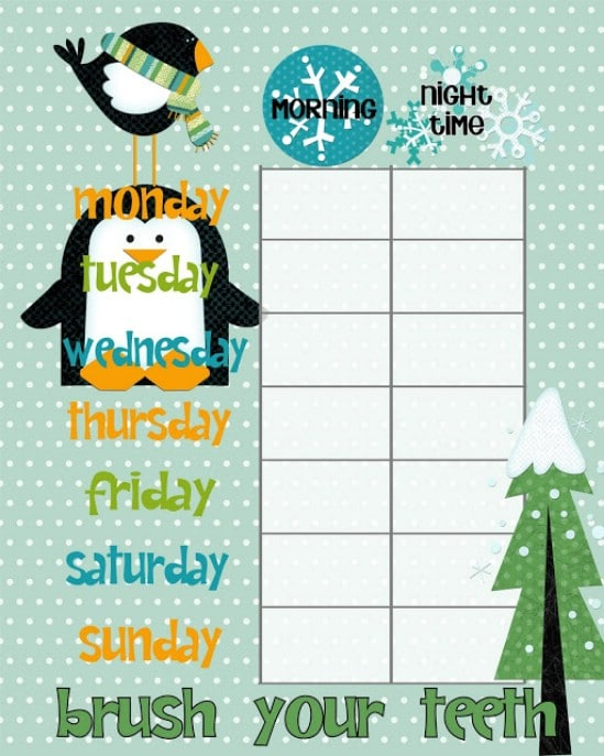 Christmas Chore Chart Printable - Over 50 Creative Christmas Printables Collection