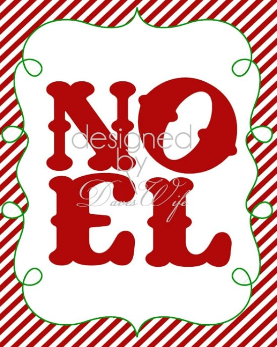 NOEL Printable - Over 50 Creative Christmas Printables Collection