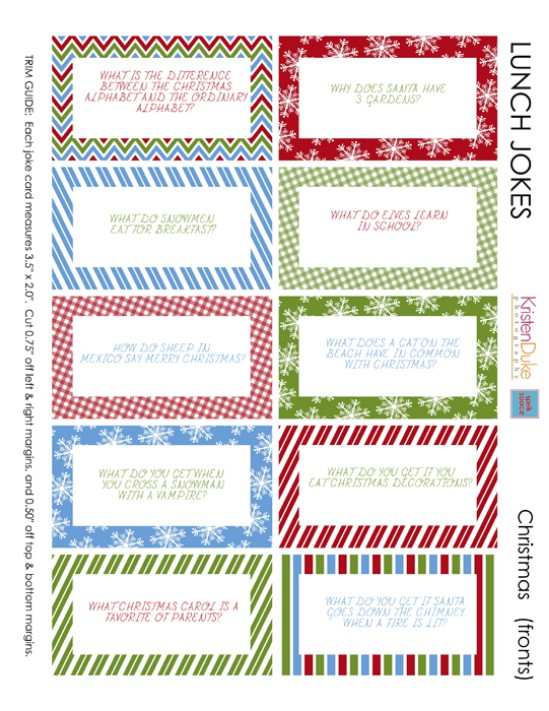 Christmas Jokes - Over 50 Creative Christmas Printables Collection