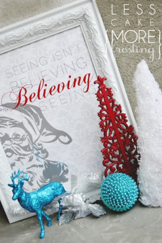 Santa Printable - Over 50 Creative Christmas Printables Collection