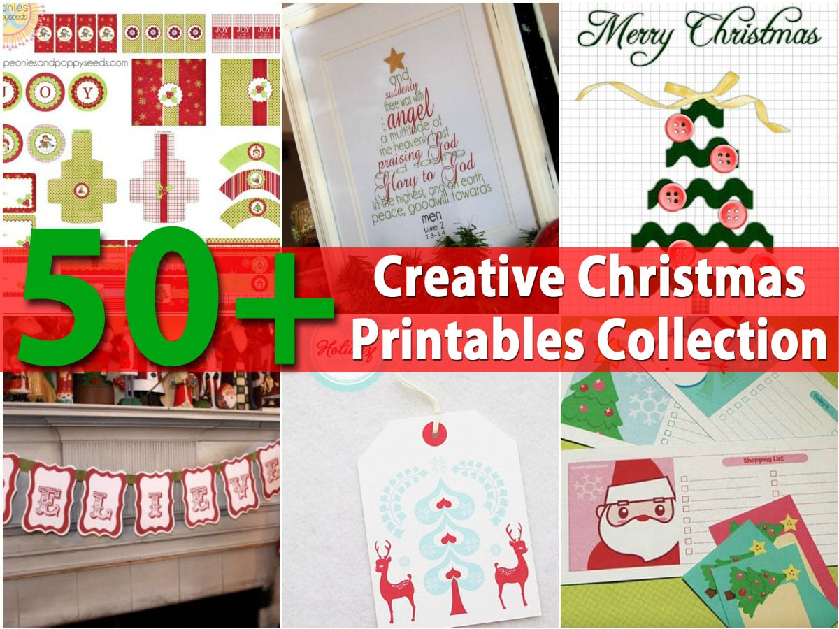image regarding Printable Christmas Decorations Cutouts named 50+ Resourceful Xmas Printables Assortment - Do-it-yourself Crafts