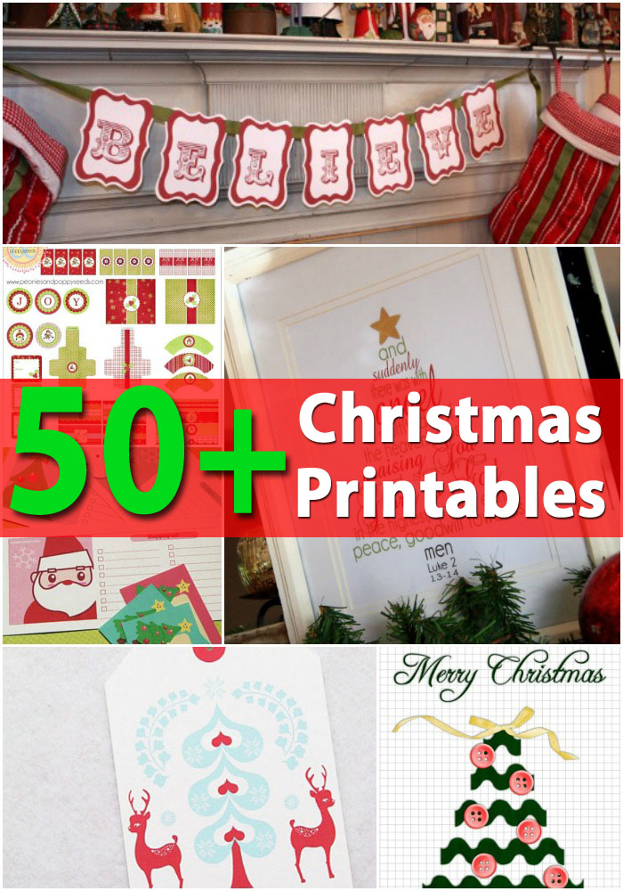 12+ Creative Christmas Printables Collection - DIY & Crafts