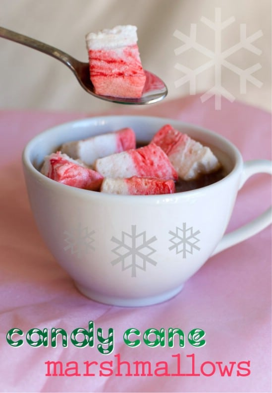 Candy Cane Marshmallows - 25 Yummy Homemade Christmas Candy Recipes