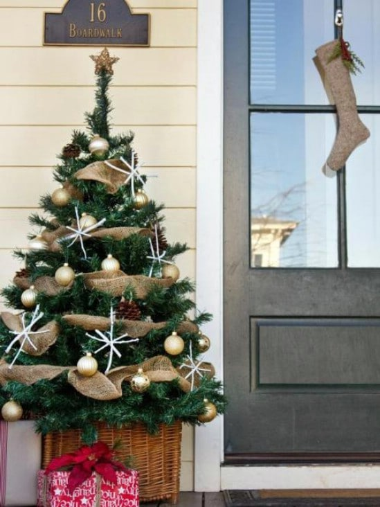 Decorate a Tree - 60 Beautifully Festive Ways to Decorate Your Porch for Christmas