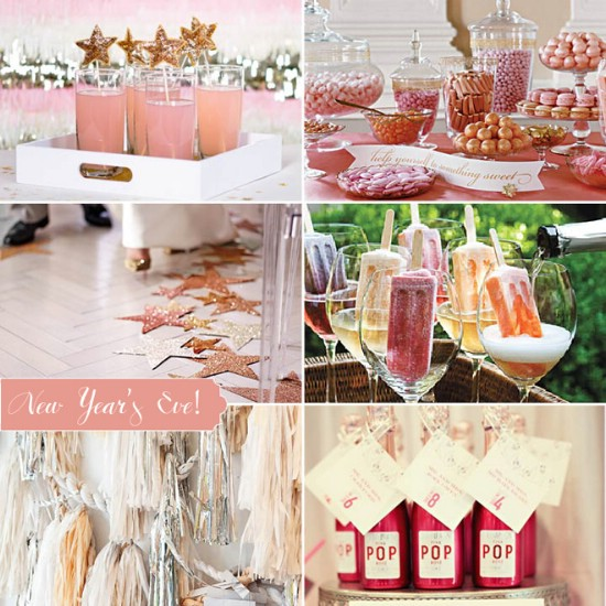 Go Pink! - 28 Fun and Easy DIY New Year's Eve Party Ideas