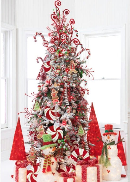 Candy Cane Inspired - 30 Stunning Ways to Decorate Your Living Room This Christmas