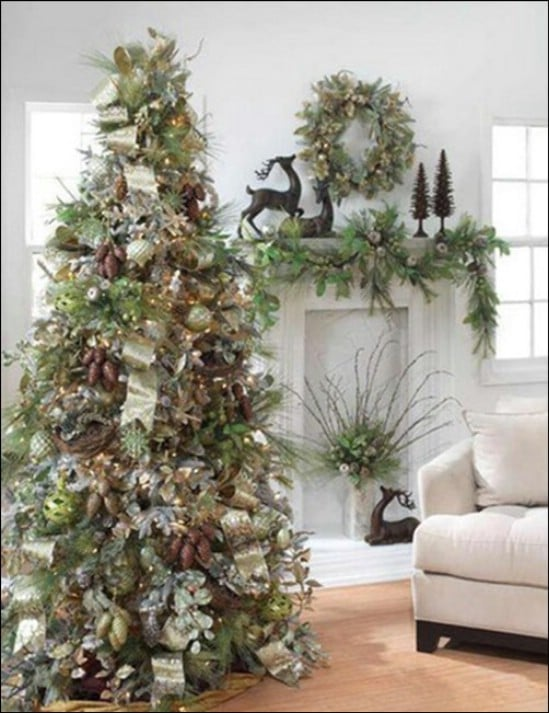 Outdoors Indoors - 30 Stunning Ways to Decorate Your Living Room This Christmas