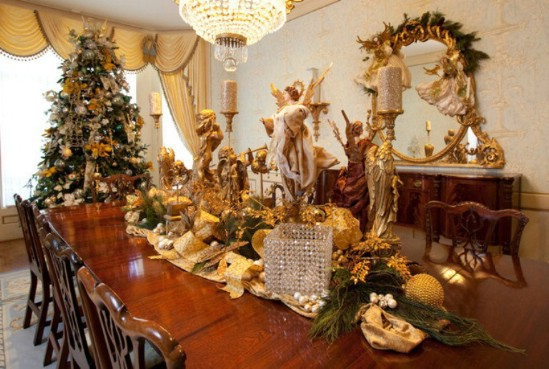 Angels - 30 Stunning Ways to Decorate Your Living Room This Christmas