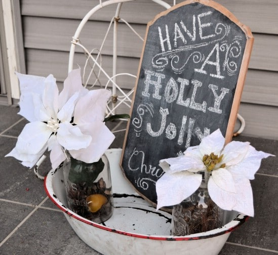 Chalkboard Decorating - 60 Beautifully Festive Ways to Decorate Your Porch for Christmas