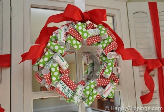 Make a Wreath - 60 Beautifully Festive Ways to Decorate Your Porch for Christmas