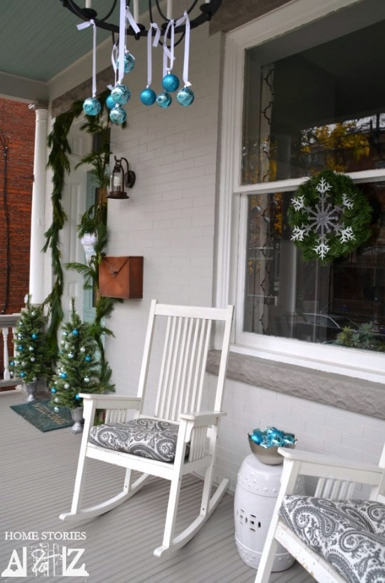Drop Ornaments - 60 Beautifully Festive Ways to Decorate Your Porch for Christmas