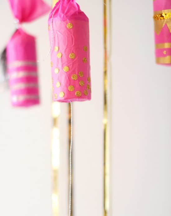 Confetti Poppers - 28 Fun and Easy DIY New Year's Eve Party Ideas