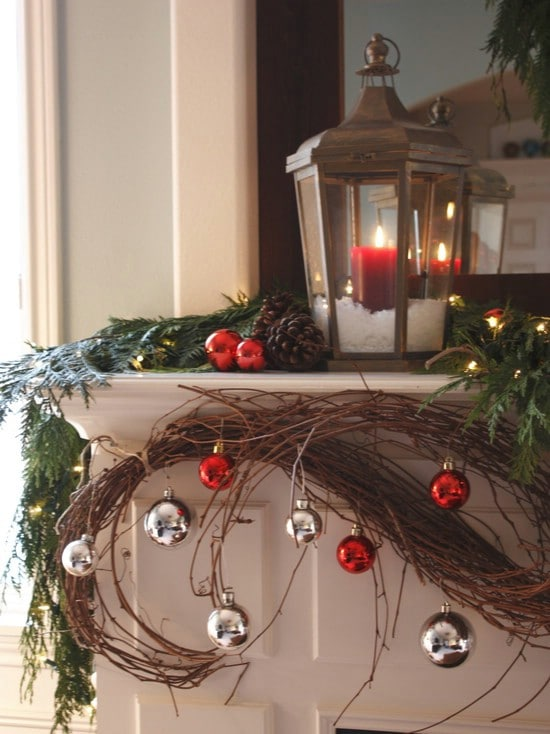 Use Candles - 30 Stunning Ways to Decorate Your Living Room This Christmas