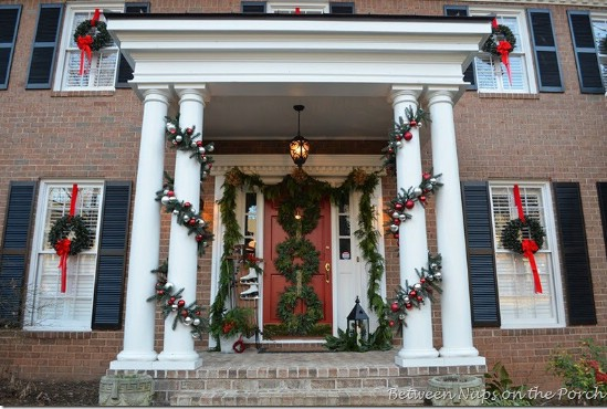 Triple Wreaths - 60 Beautifully Festive Ways to Decorate Your Porch for Christmas