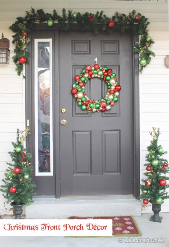 Lots of Red and Green - 60 Beautifully Festive Ways to Decorate Your Porch for Christmas