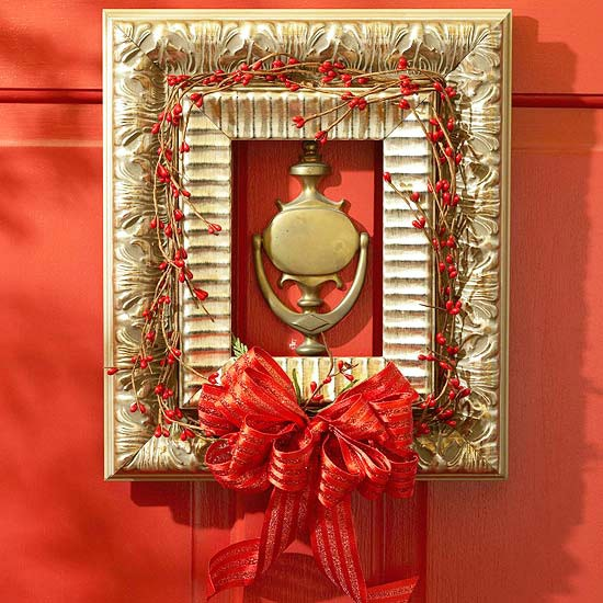 Frames Instead of Wreaths - 60 Beautifully Festive Ways to Decorate Your Porch for Christmas