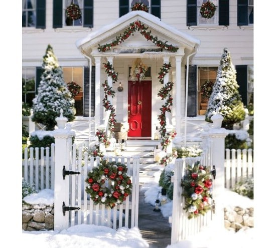 Don't Forget the Reindeer - 60 Beautifully Festive Ways to Decorate Your Porch for Christmas