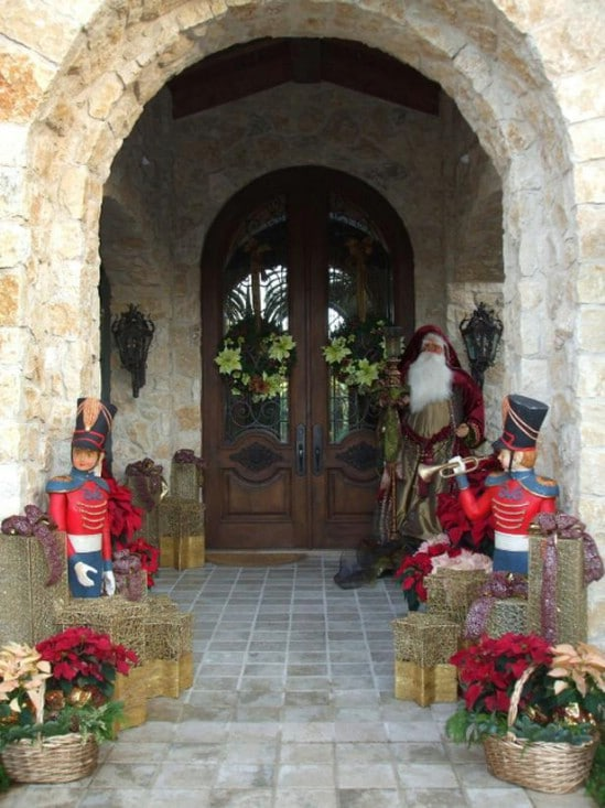 Create a Nutcracker Suite - 60 Beautifully Festive Ways to Decorate Your Porch for Christmas