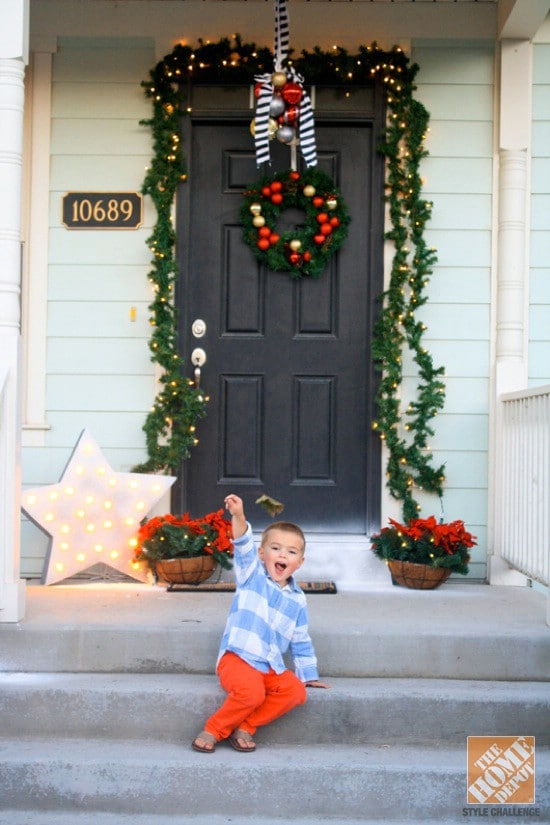 Make Your Own Drop Swag - 60 Beautifully Festive Ways to Decorate Your Porch for Christmas