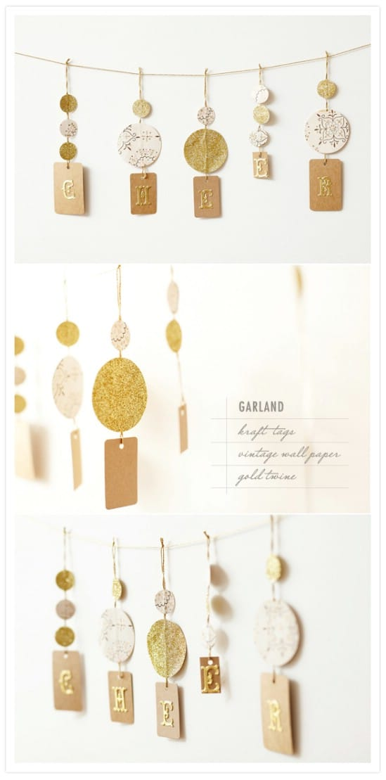 Decorative Garland - 28 Fun and Easy DIY New Year's Eve Party Ideas