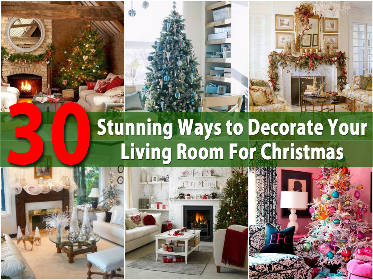 30 Stunning Ways To Decorate Your Living Room For Christmas   DIY U0026 Crafts