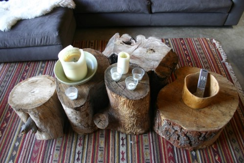 Tree Trunk Coffee Tables - 40 Rustic Home Decor Ideas You Can Build Yourself