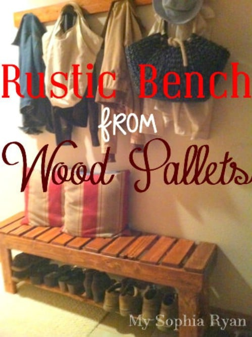 Wood Pallet Bench - 40 Rustic Home Decor Ideas You Can Build Yourself