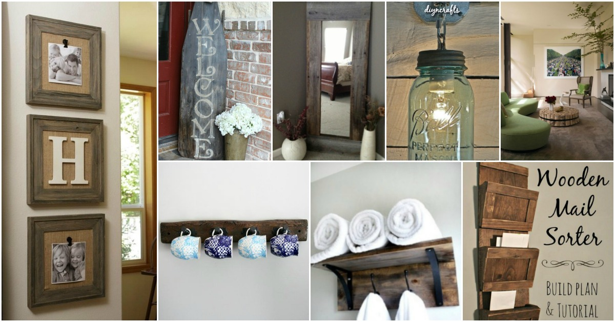 Home Design Ideas Diy: 40 Rustic Home Decor Ideas You Can Build Yourself